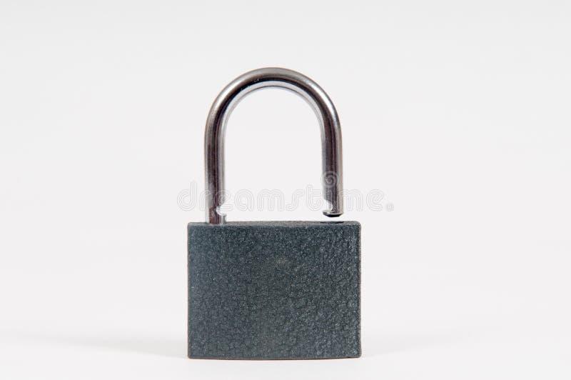 开锁的开放挂锁 免版税库存照片