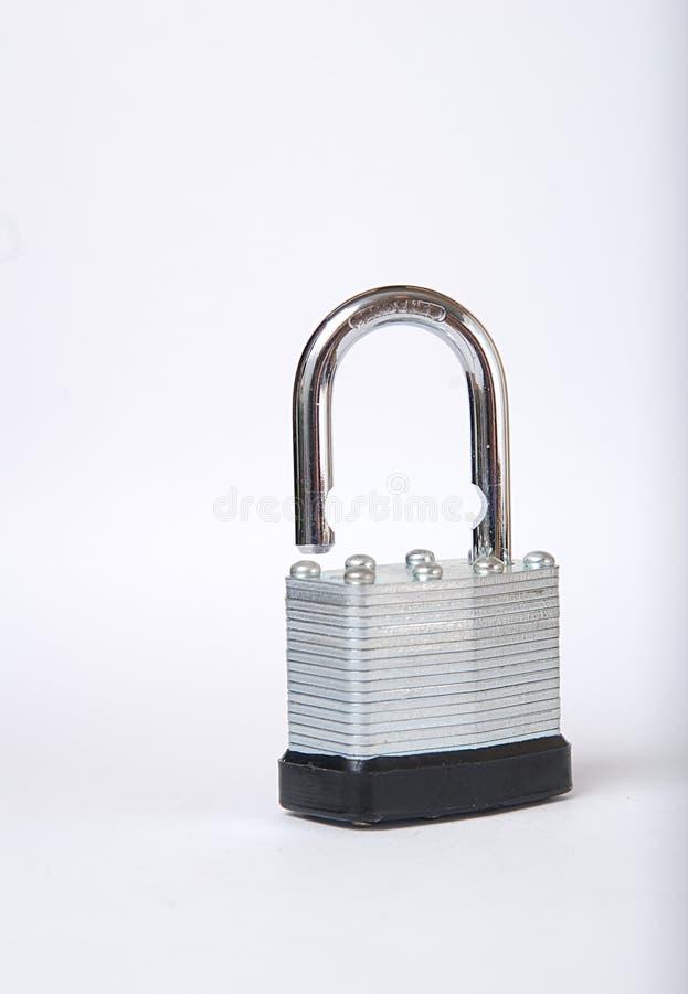 开锁的挂锁 免版税库存图片