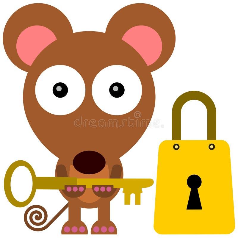 开锁的老鼠 免版税库存照片