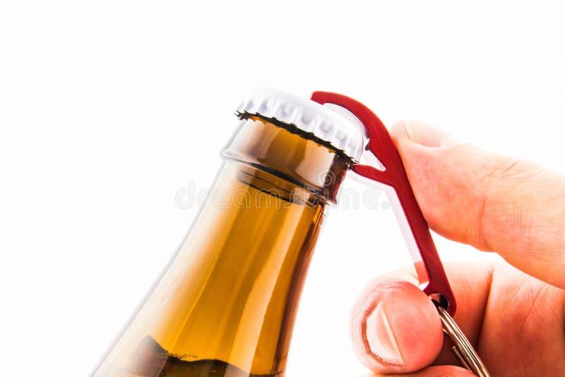 开头啤酒瓶 免版税库存图片