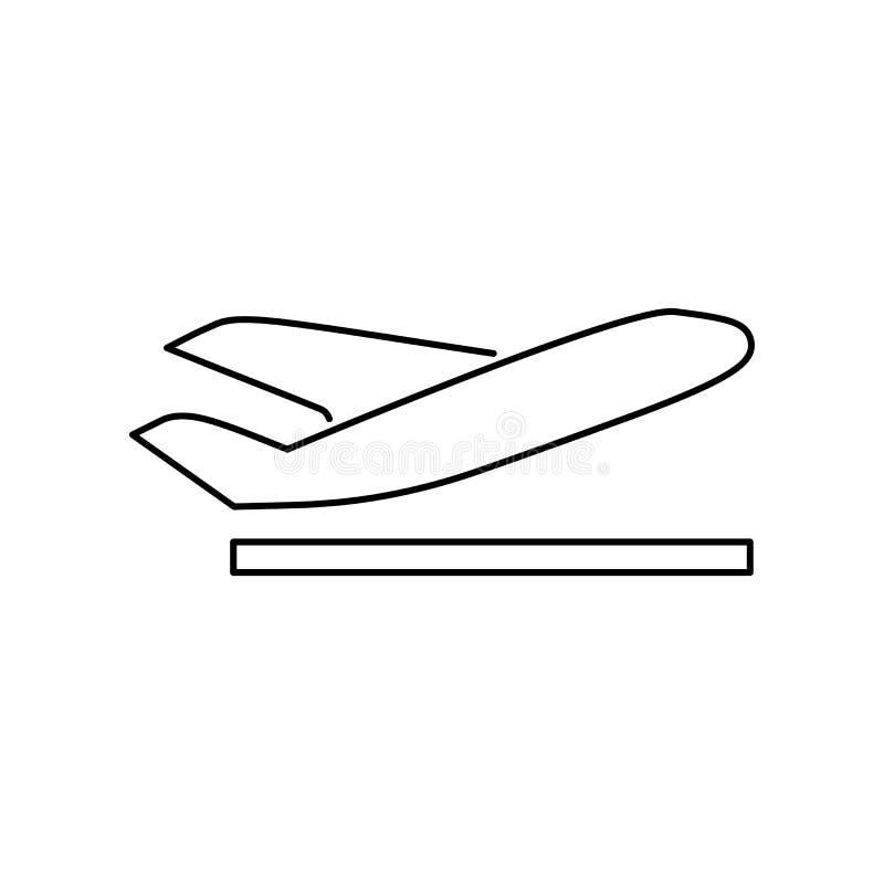 离开离开平面象简单的平的传染媒介例证 库存例证