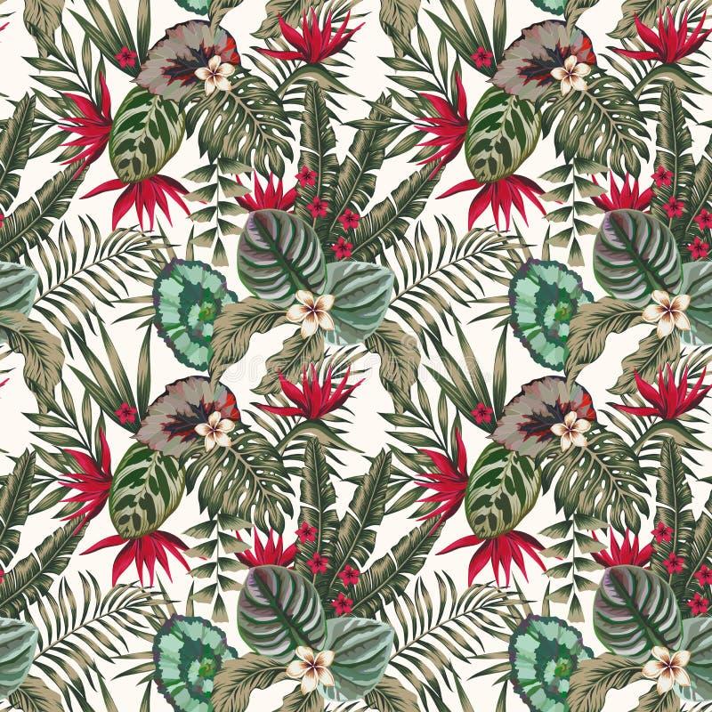 异乎寻常的无缝植物叶子花抽象的颜色 皇族释放例证