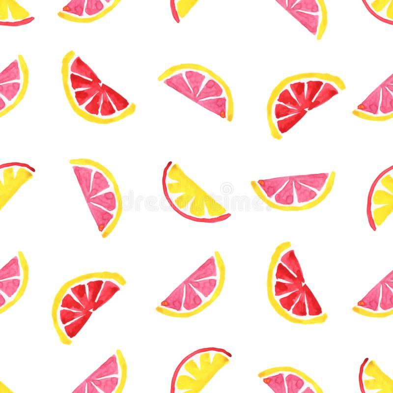 异乎寻常的果子的热带样式 无缝抽象的背景 库存例证