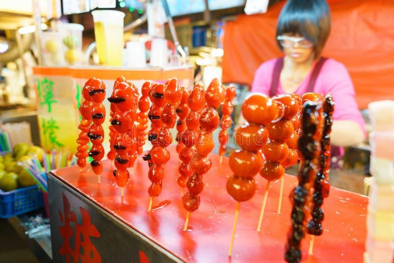 异乎寻常的果子,亚洲市场 免版税库存图片