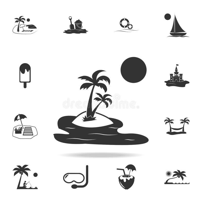 异乎寻常的海岛象 详细的套海滩假日象 优质质量图形设计 其中一个网站的汇集象 库存例证