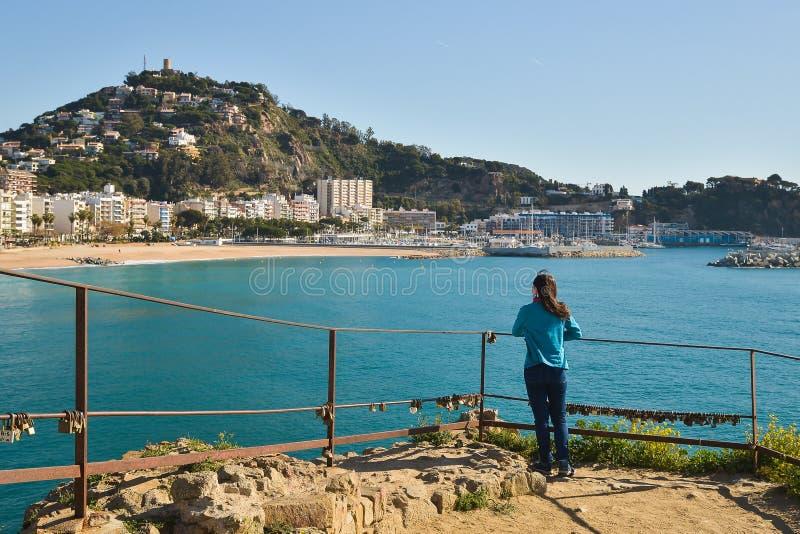 异乎寻常的海岸线在西班牙,肋前缘Brava 免版税库存图片