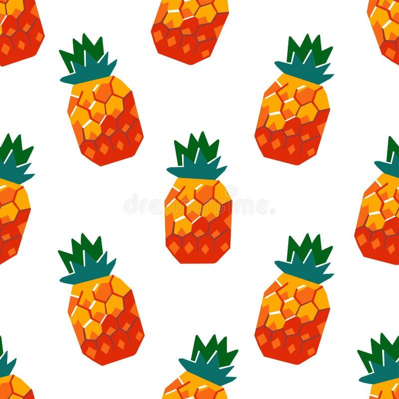 异乎寻常的菠萝果子无缝的样式 库存例证