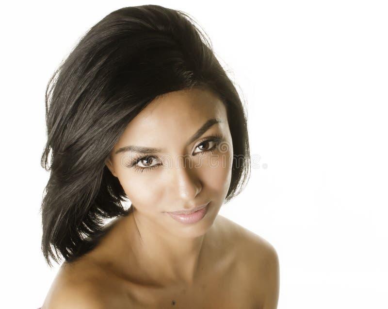 异乎寻常的少妇的美丽的面孔 库存照片