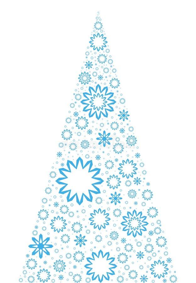 异常的圣诞树 库存例证