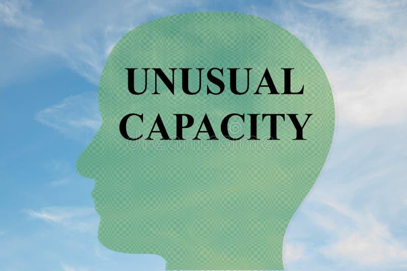 异常的容量概念 向量例证