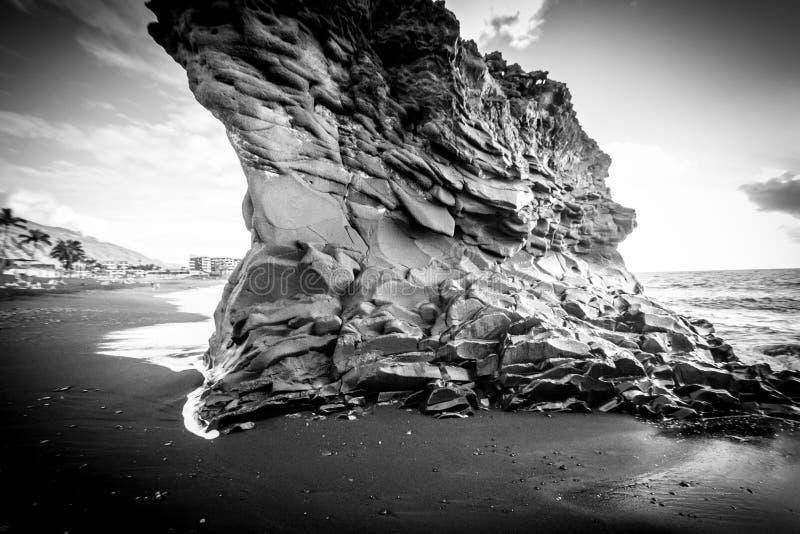 异常的沿海岩层 库存照片