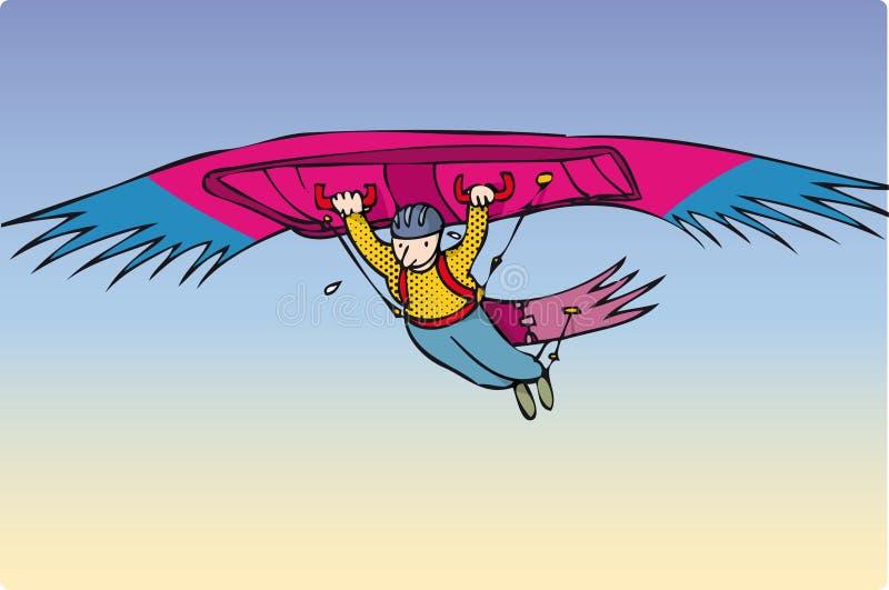 异常滑翔机 皇族释放例证