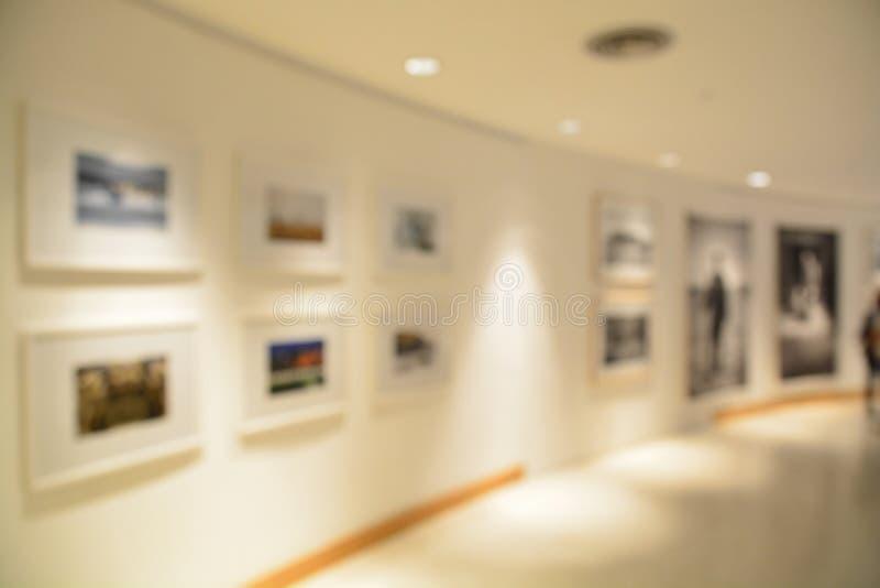 弄脏或美术画廊defocus  免版税库存照片