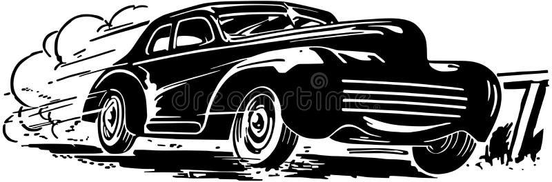 弄脏汽车f重点行动peterburg照片路旁sant场面特殊加速的被定调子的x 向量例证