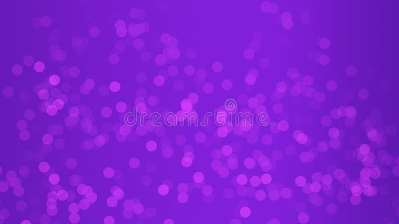 弄脏紫色闪烁作用和发光的bokeh在纹理背景 r 免版税库存照片