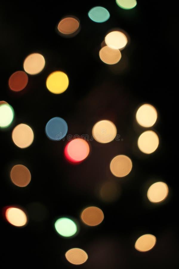 弄脏被弄脏的defocused圣诞灯bokeh光点 库存图片