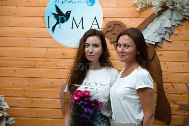 式样展示春天衣裳2018年9月9日在切尔卡瑟州乌克兰自由入口 免版税图库摄影