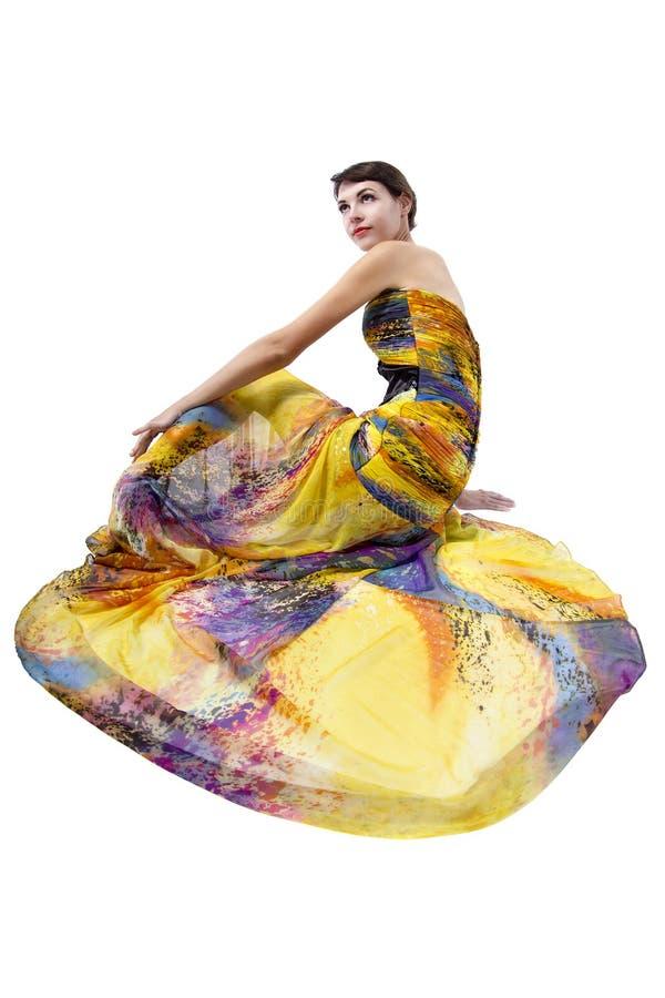 式样穿一件五颜六色的礼服 库存照片