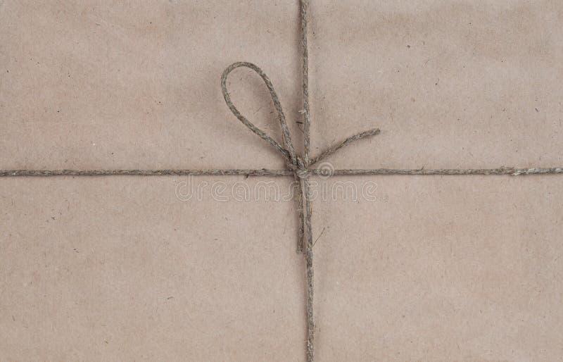 弓包装纸被回收的字符串附加 免版税库存图片