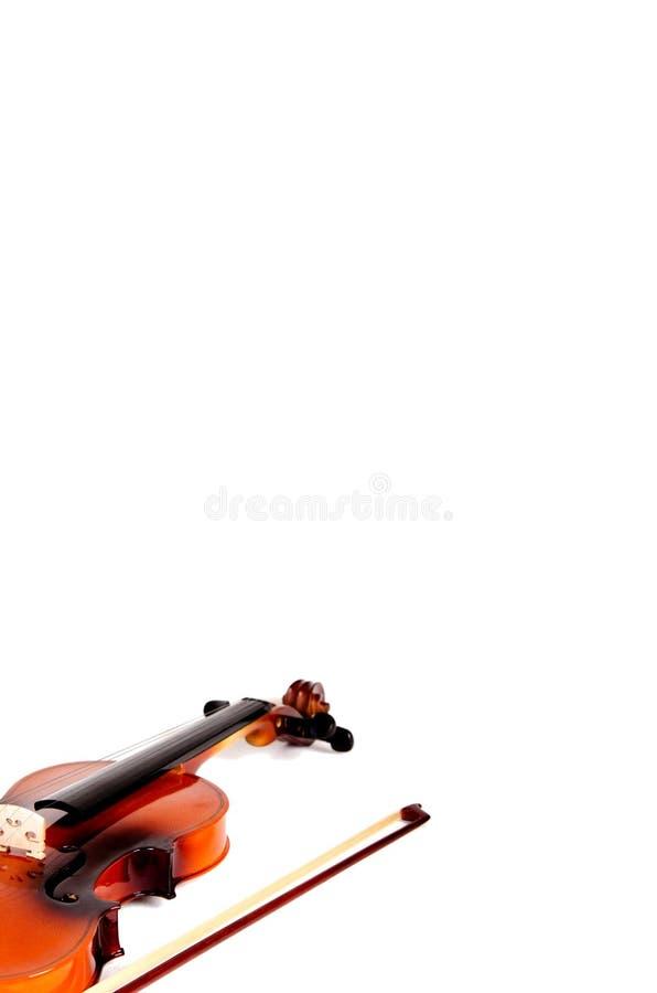 弓发光的小提琴 免版税库存照片