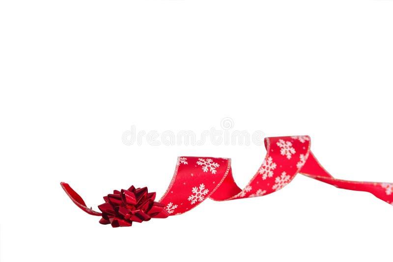 弓圣诞节丝带 库存图片