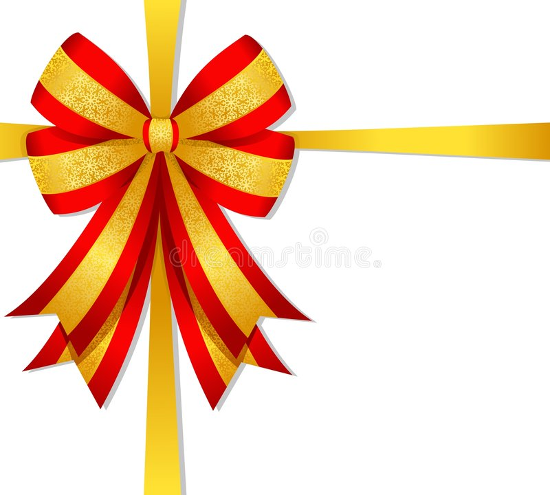 弓圣诞节红色 向量例证