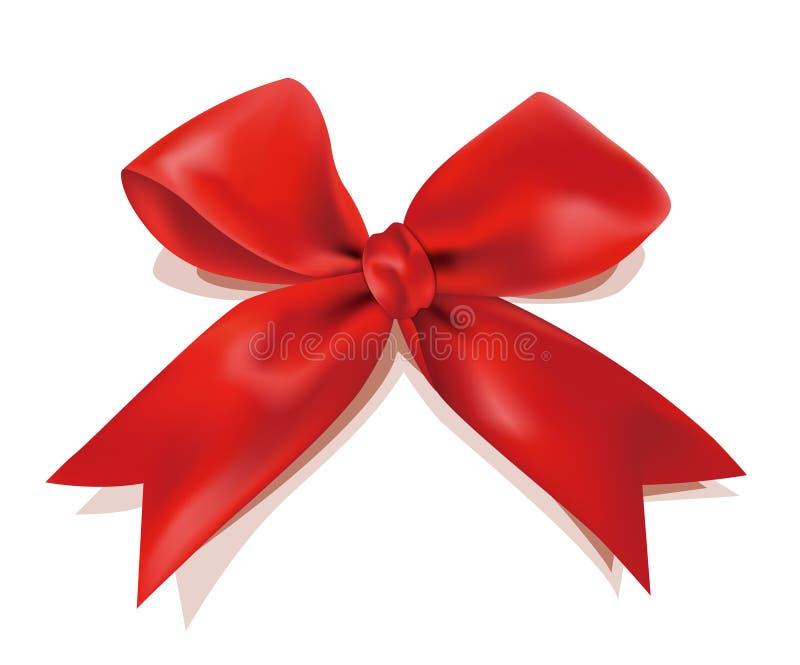 弓圣诞节红色 库存例证