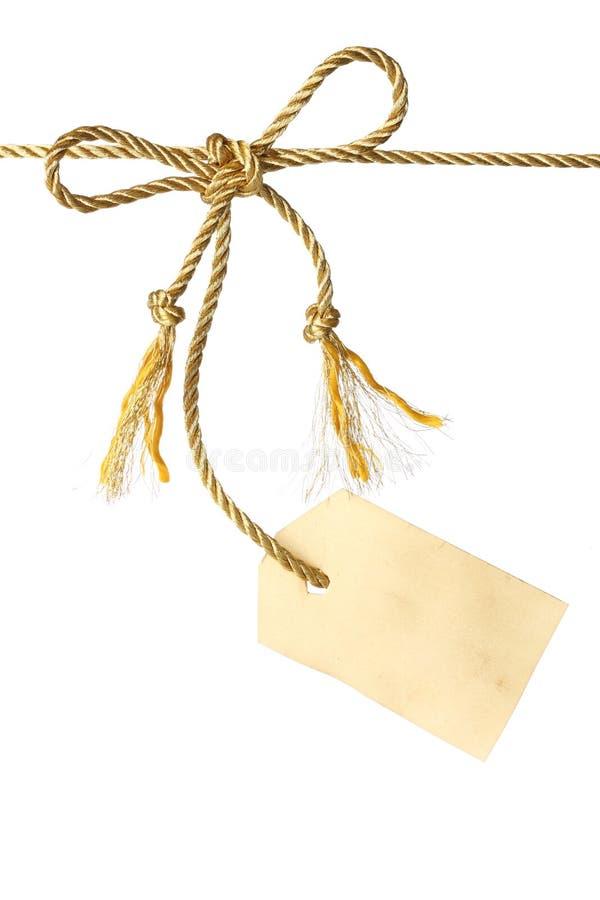 弓标签 库存照片