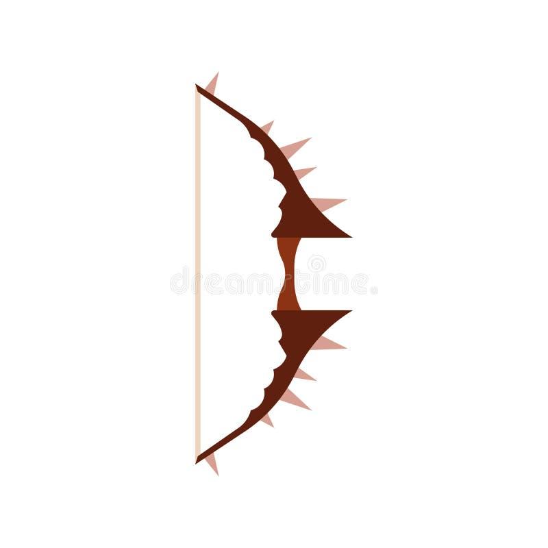 弓比赛箭头传染媒介例证 象中世纪武器集合rpg 向量例证