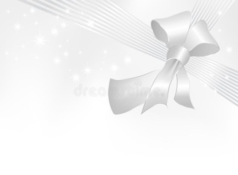 弓灰色丝带银 向量例证