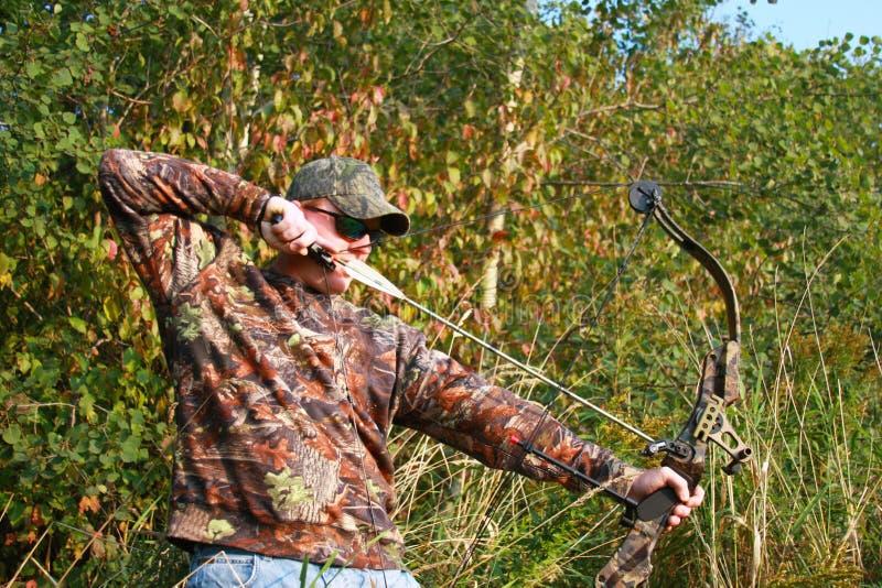 弓狩猎 免版税库存照片