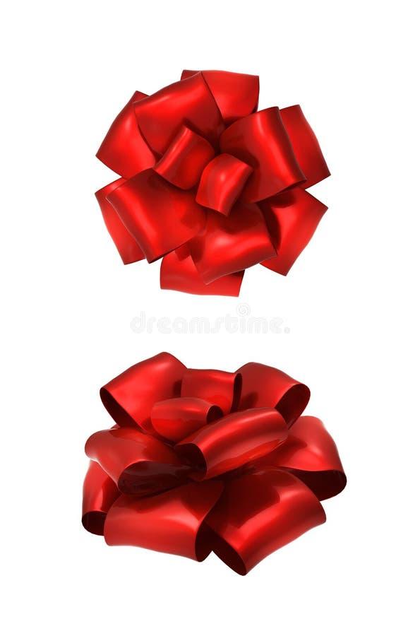 弓红色二 库存例证