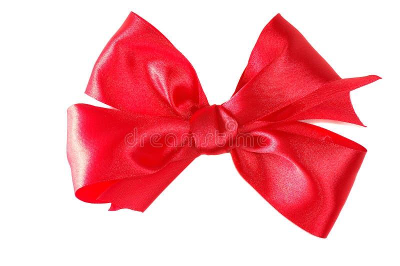 弓红色缎 免版税库存图片