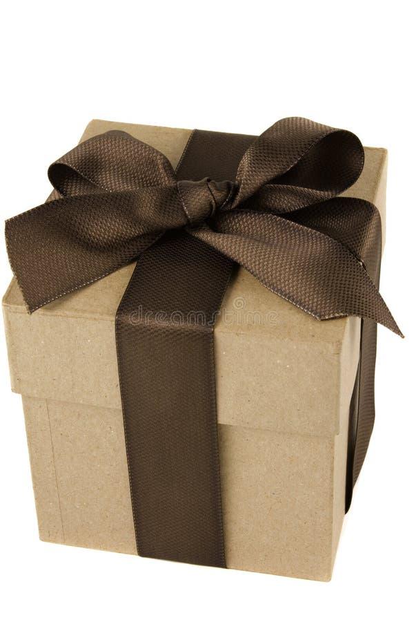 弓配件箱褐色礼品 库存照片
