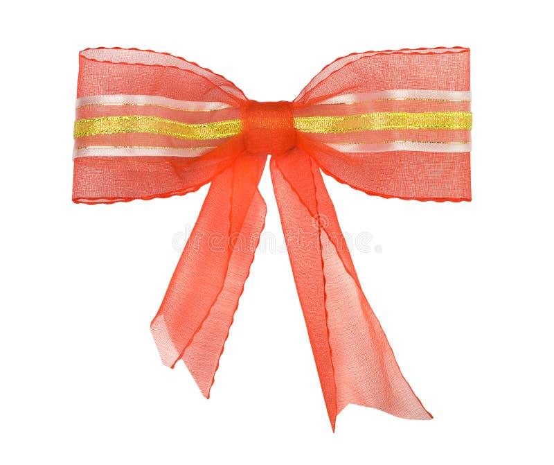 弓金红色丝带磁带 库存图片