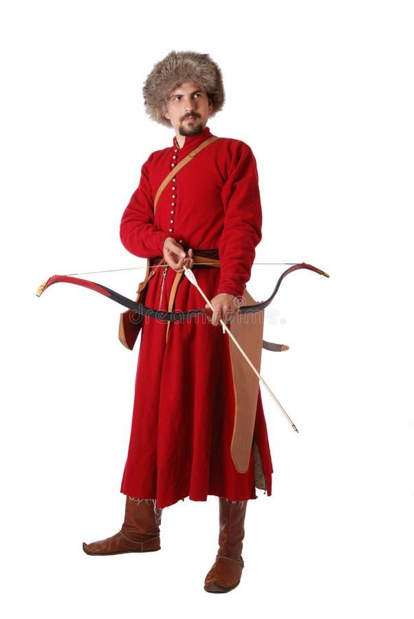 弓鞑靼人战士 库存图片