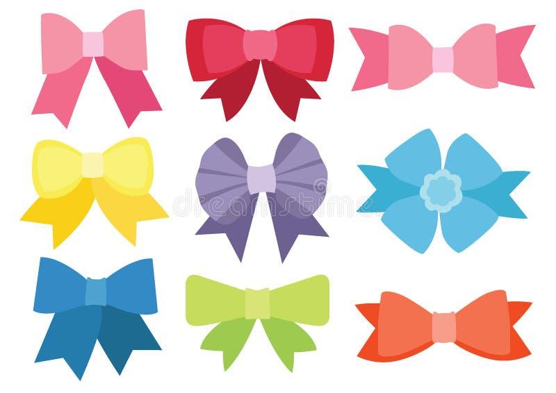 弓颜色的设计和五颜六色多彩多姿的弓 皇族释放例证