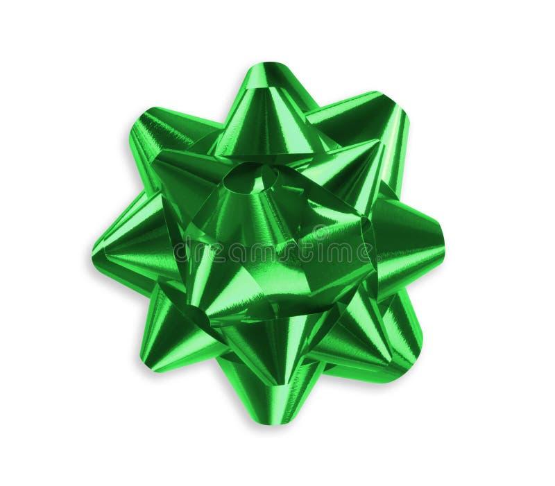 弓绿色丝带 库存照片