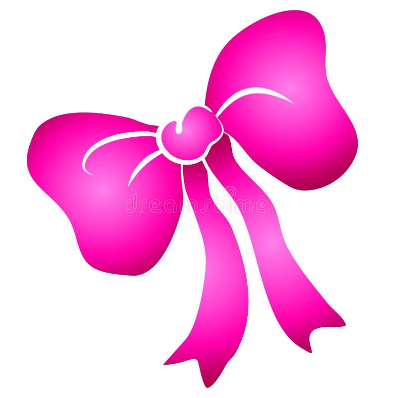 弓clipart粉红色丝带附加 向量例证