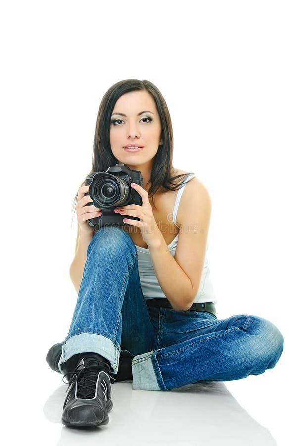 引人入胜的摄影师 图库摄影
