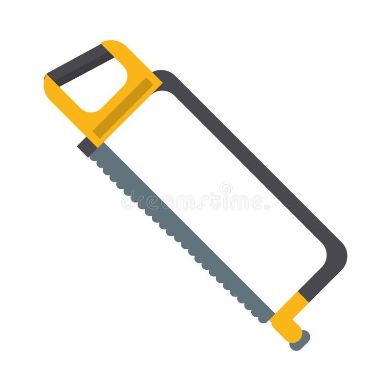 引形钢锯建筑工具 皇族释放例证