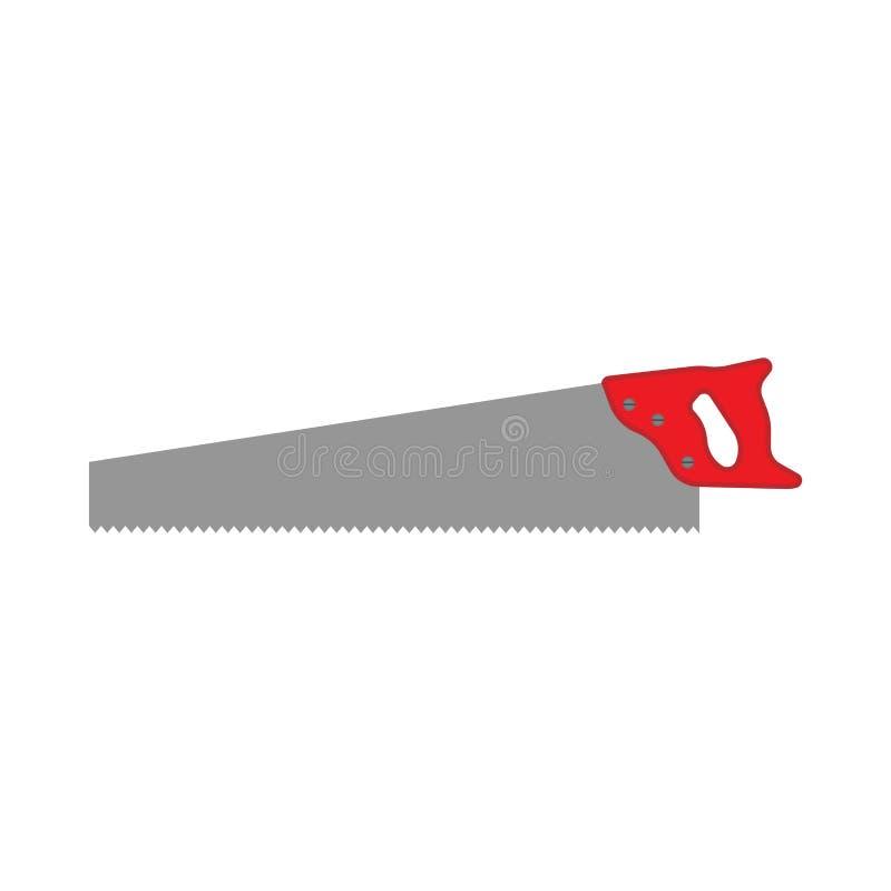 引形钢锯弓建设者工具传染媒介设备象 修理把柄刀片裁减木匠业仪器 手工工艺侧视图 皇族释放例证