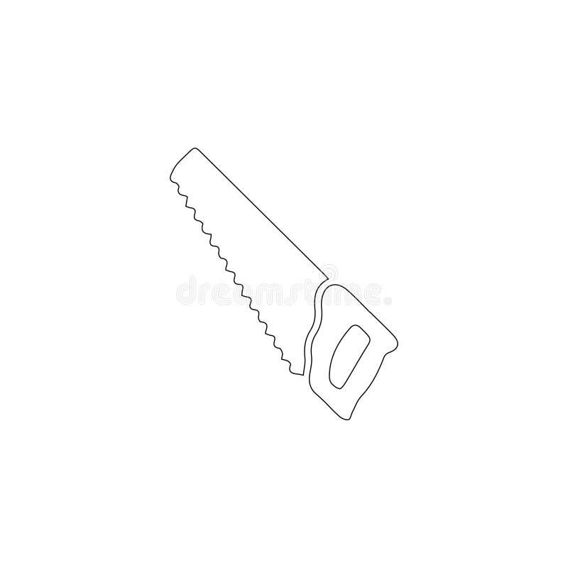 引形钢锯或手看见了 平的传染媒介象 皇族释放例证