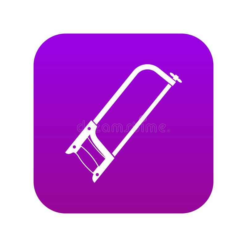 引形钢锯象数字紫色 皇族释放例证