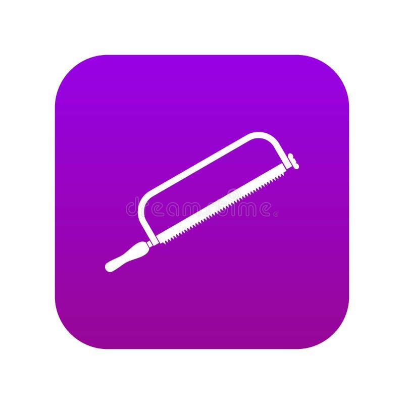 引形钢锯象数字紫色 库存例证