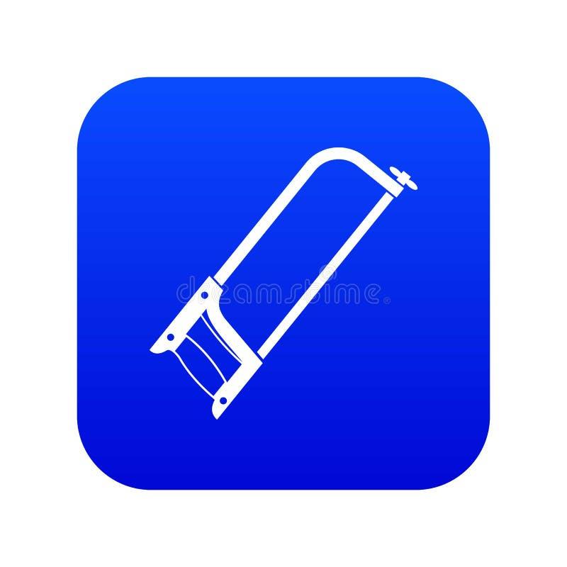 引形钢锯象数字蓝色 向量例证