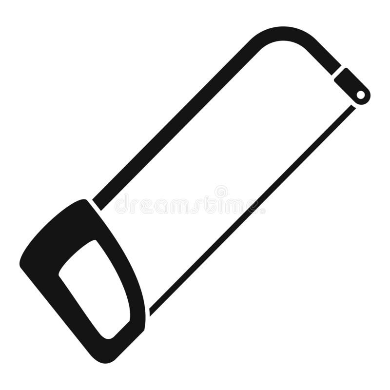 引形钢锯象,简单的样式 库存例证