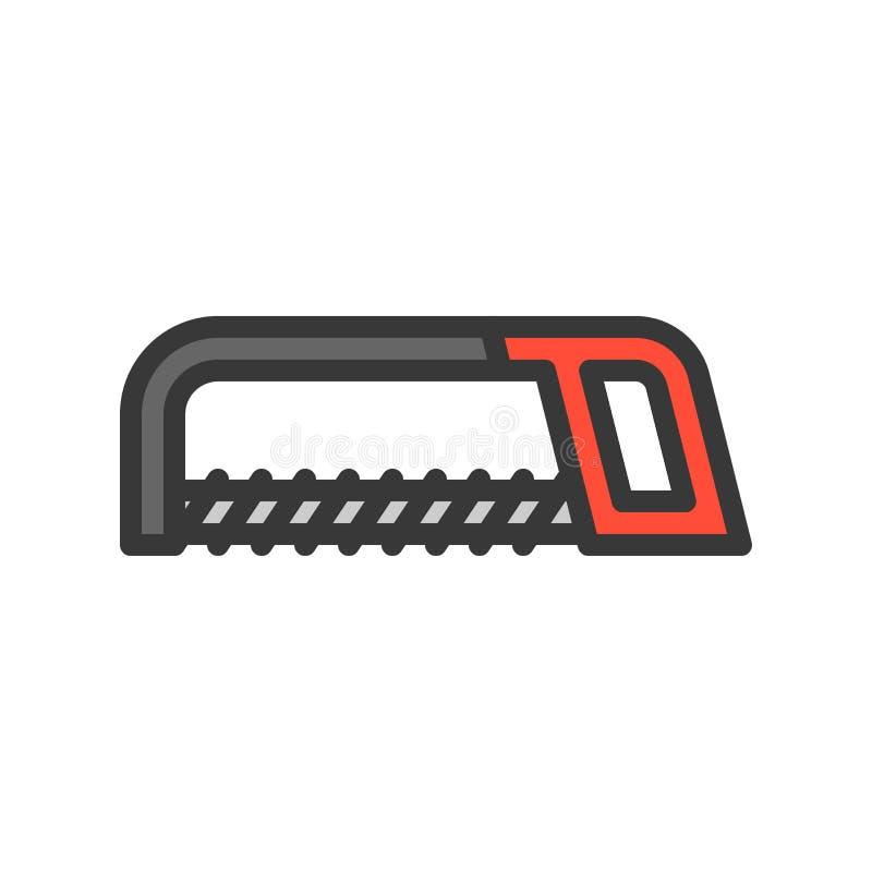 引形钢锯,杂物工工具填装了概述传染媒介象 库存例证