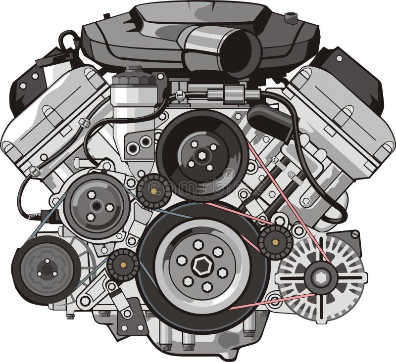 引擎前面 库存例证