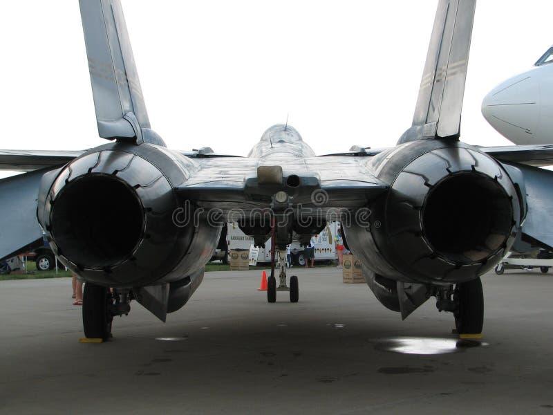 引擎喷气机孪生 库存照片